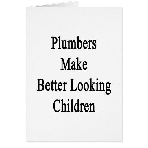 Los fontaneros hacen a niños más apuestos tarjetas