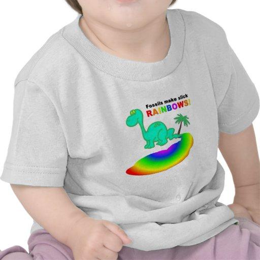 Los fósiles hacen los arco iris pulidos camisetas