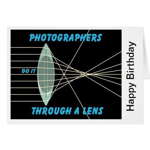 los fotógrafos lo hacen a través de una lente felicitación