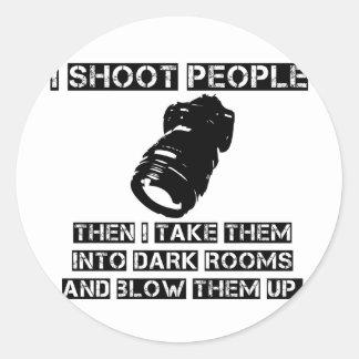 Los fotógrafos son tan violentos pegatina