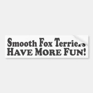 ¡Los fox terrier lisos se divierten más! - Sticke  Pegatina Para Auto