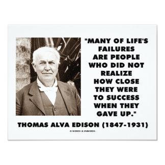 Los fracasos de Thomas Edison cerca del éxito Invitaciones Personales