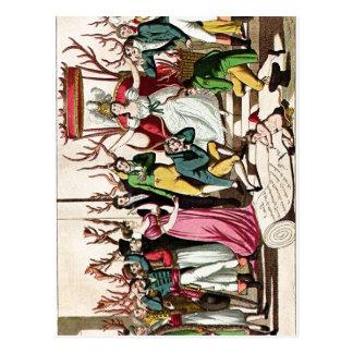 Los franceses coloreados satíricos del resumen A i Postales