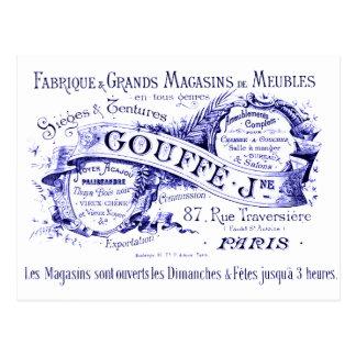 Los franceses del vintage firman adentro la tinta tarjetas postales