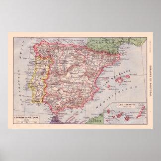 Los franceses del vintage trazan, 1920, España y P Impresiones