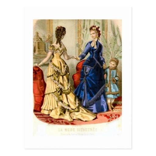 Los franceses forman para el salón, 1875 tarjetas postales