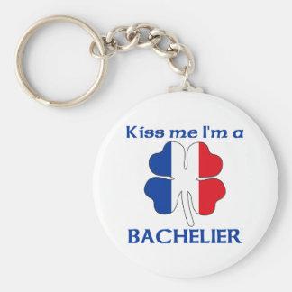 Los franceses personalizados me besan que soy Bach Llavero Redondo Tipo Pin