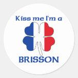 Los franceses personalizados me besan que soy pegatinas redondas
