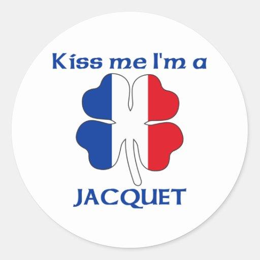 Los franceses personalizados me besan que soy pegatina redonda