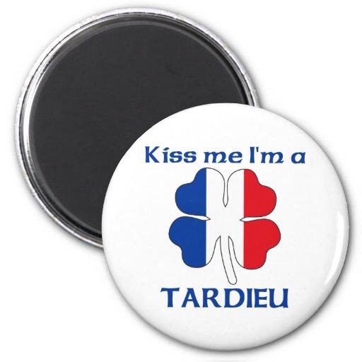 Los franceses personalizados me besan que soy Tard Imanes De Nevera