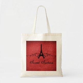 Los franceses rojos del vintage prosperan el bolso bolsas