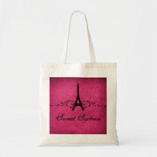 Los franceses rosados del vintage prosperan el bol bolsas de mano