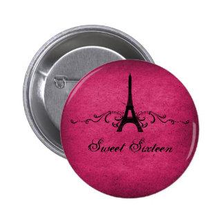 Los franceses rosados del vintage prosperan el bot pins