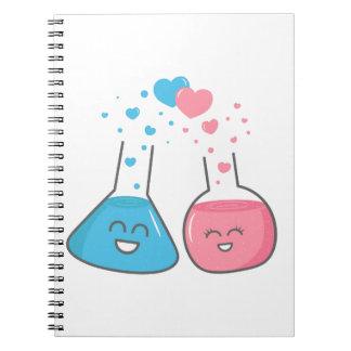 Los frascos lindos en amor tenemos química libretas espirales