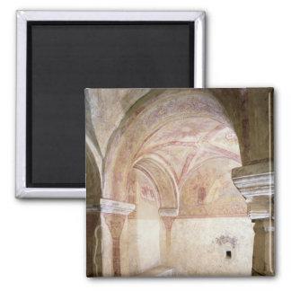 Los frescos de Carolingian en la cripta interna Imán Para Frigorifico