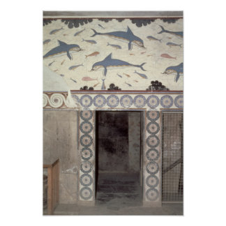 Los frescos del delfín en el cuarto de baño de la  poster