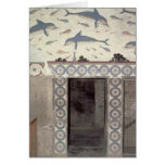 Los frescos del delfín en el cuarto de baño de la  tarjetón