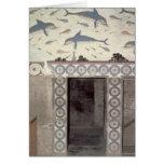 Los frescos del delfín en el cuarto de baño de la  tarjeta de felicitación