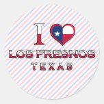Los Fresnos, Texas Round Stickers