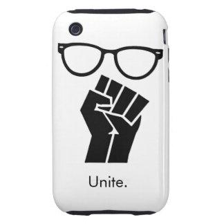 Los frikis unen el caso del iphone tough iPhone 3 protectores