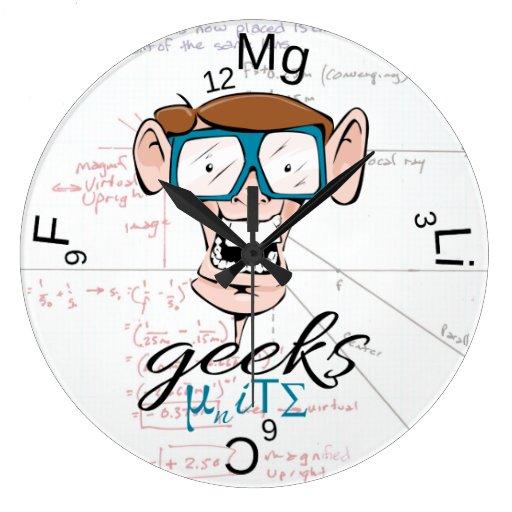 Los frikis unen reloj redondo grande
