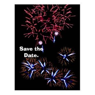 Los fuegos artificiales ahorran la fecha postal