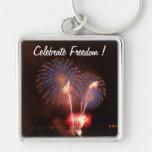Los fuegos artificiales celebran la libertad llavero