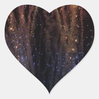 Los fuegos artificiales encienden el cuarto del calcomanías de corazones personalizadas