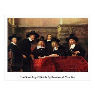 Los funcionarios del muestreo de Rembrandt Van Postales