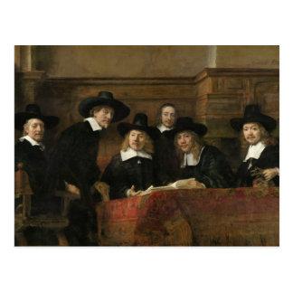 Los funcionarios del muestreo de Rembrandt Van Tarjeta Postal