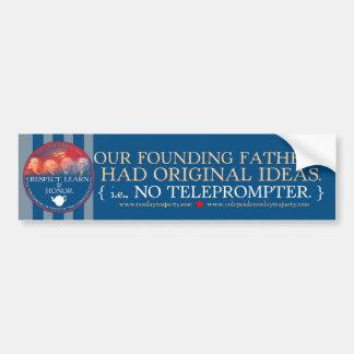 Los fundadores contra pegatina para el parachoques etiqueta de parachoque