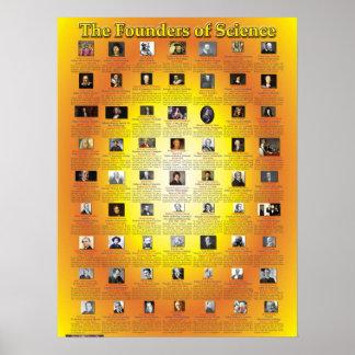 Los fundadores de la ciencia póster