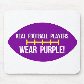 Los futbolistas reales llevan púrpura tapete de raton