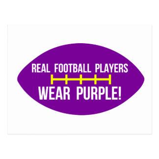 Los futbolistas reales llevan púrpura postal