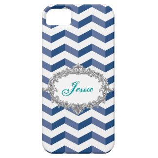 los galones 3D azules/la caja blanca del iPhone iPhone 5 Case-Mate Protector