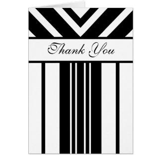 Los galones blancos y negros de las rayas le tarjeta de felicitación