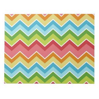Los galones coloridos zigzaguean modelo de las libreta para notas