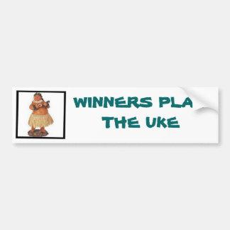 Los ganadores juegan el Uke Pegatina Para Auto