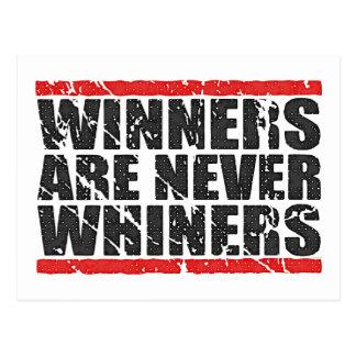 Los ganadores nunca son mirada retra de los postales