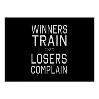 Los ganadores tren, perdedores se quejan impresiones