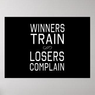 Los ganadores tren, perdedores se quejan póster