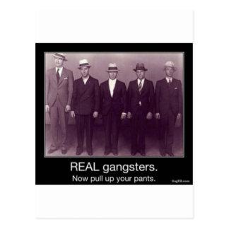 los gangstas reales ahora levantan sus pantalones tarjeta postal