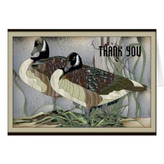Los gansos canadienses le agradecen cardar tarjeta de felicitación
