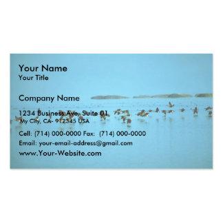 Los gansos de Canadá vuelan bajo sobre el agua Tarjeta De Visita