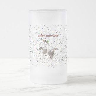 Los gansos del Año Nuevo Tazas De Café
