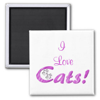 Los gatos, amo imán de frigorífico