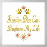 Los gatos azules rusos aclaran mi vida poster