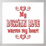 Los gatos azules rusos calientan mi corazón poster