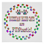 Los gatos azules rusos son Funtastic Impresiones