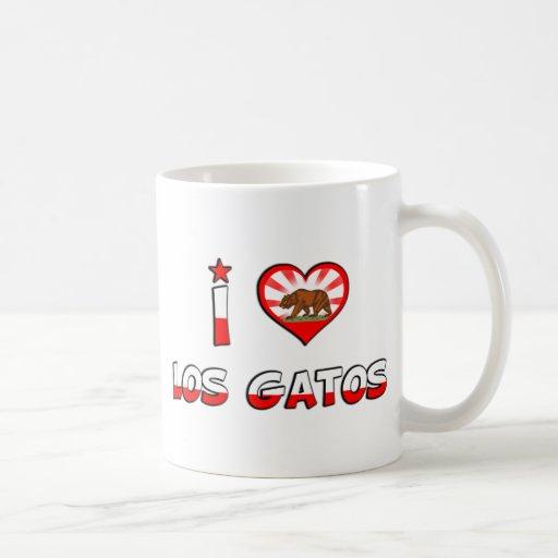 Los Gatos, CA Taza Básica Blanca